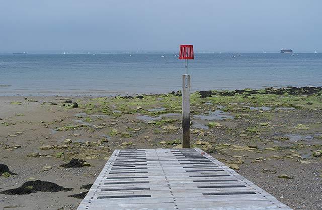 Enjoy views over the Solent